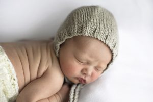 Photo of newborn baby in Qualicum Beach Studio