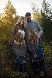 Family photography in Qualicum Beach forest